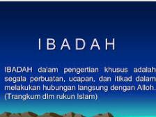 Definisi ibadah