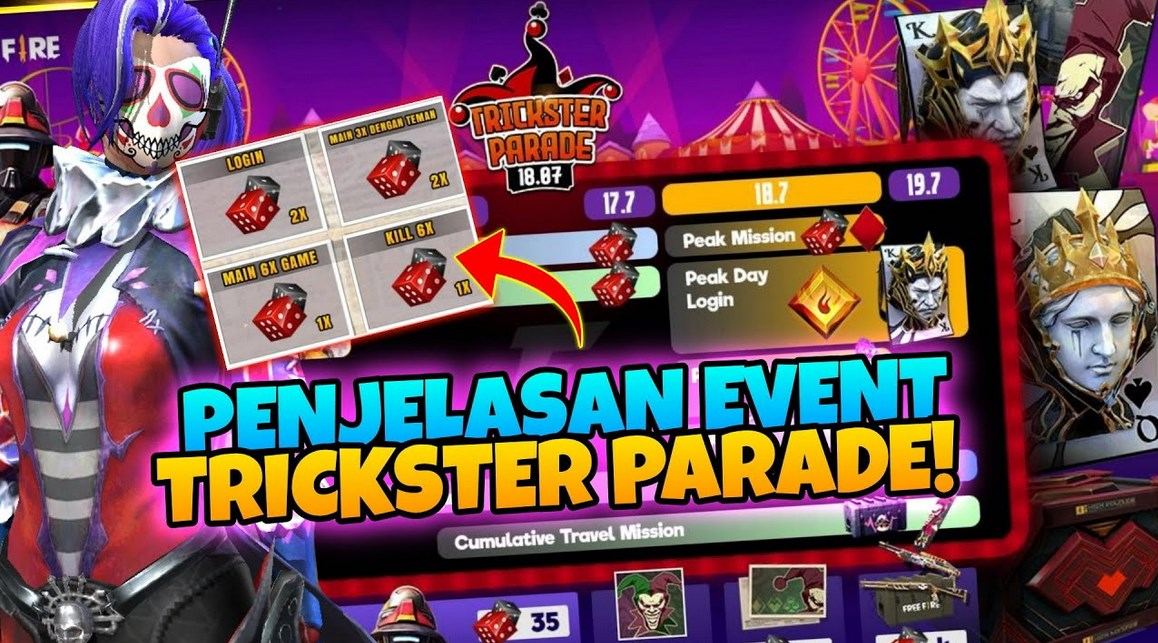 Cara-Menyelesaikan-Misi-di-Event-Trickster-Parade-Free-Fire